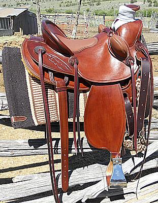 Custom Western Wade Tree Saddle, USA Leather, Padded Seat