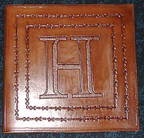 personalized leather scrapbooks memory books photo albums barb wire