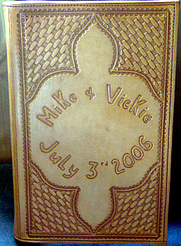 Personalized Leather Memory Book Western Wedding Photo